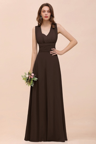 New Arrival Dusty Blue Ruched Long Convertible Bridesmaid Dresses_11