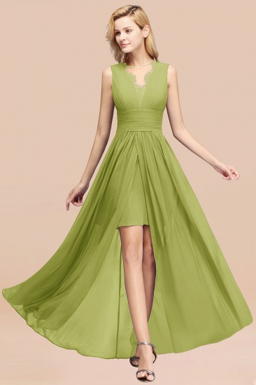 BMbridal Elegant Chiffon Lace Jewel Sleeveless Bridesmaid Dress with Ruffle_34