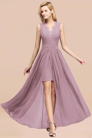 BMbridal Elegant Chiffon Lace Jewel Sleeveless Bridesmaid Dress with Ruffle_43