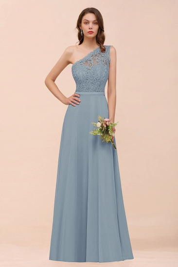 New Arrival Dusty Rose One Shoulder Lace Long Bridesmaid Dress_40