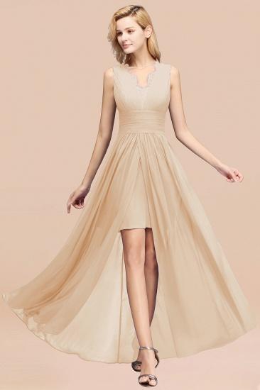 BMbridal Elegant Chiffon Lace Jewel Sleeveless Bridesmaid Dress with Ruffle_14