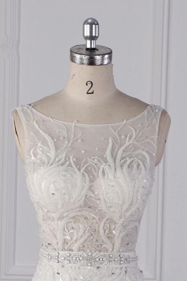 BMbridal Glamorous Jewel Beadings Sheath Wedding Dress Tulle Beadings Appliques Bridal Gowns On Sale_4