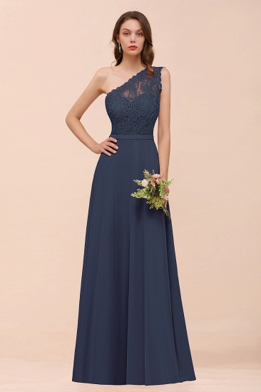 New Arrival Dusty Rose One Shoulder Lace Long Bridesmaid Dress_39