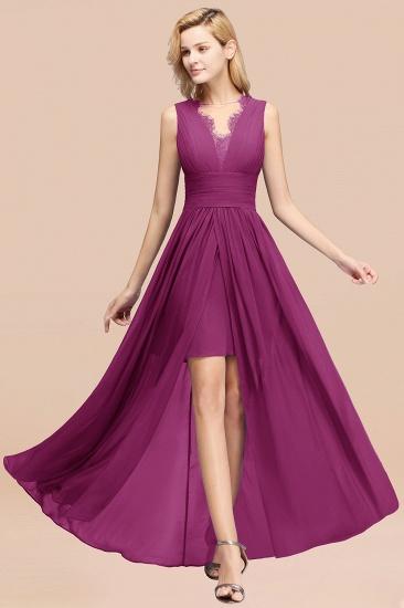 BMbridal Elegant Chiffon Lace Jewel Sleeveless Bridesmaid Dress with Ruffle_42