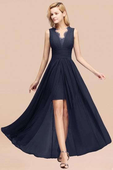 BMbridal Elegant Chiffon Lace Jewel Sleeveless Bridesmaid Dress with Ruffle_28