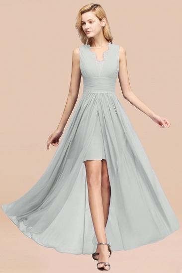 BMbridal Elegant Chiffon Lace Jewel Sleeveless Bridesmaid Dress with Ruffle_38