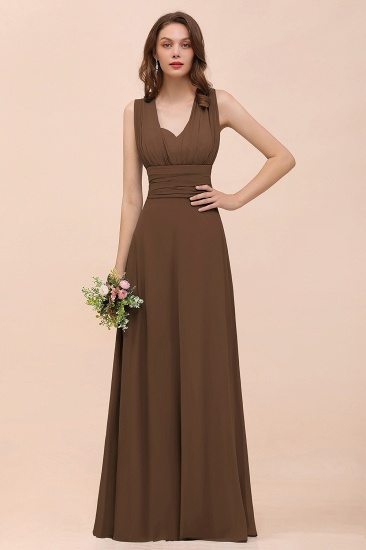 New Arrival Dusty Blue Ruched Long Convertible Bridesmaid Dresses_12