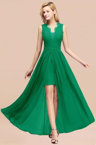 BMbridal Elegant Chiffon Lace Jewel Sleeveless Bridesmaid Dress with Ruffle_49