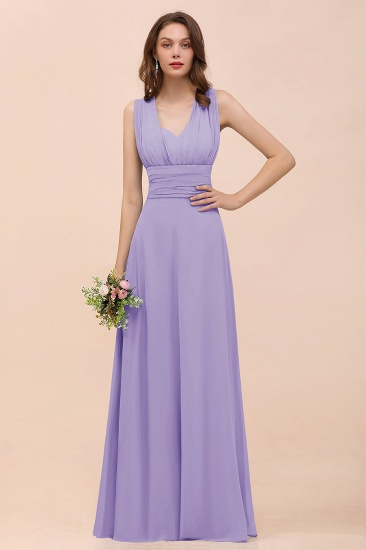 New Arrival Dusty Blue Ruched Long Convertible Bridesmaid Dresses_21