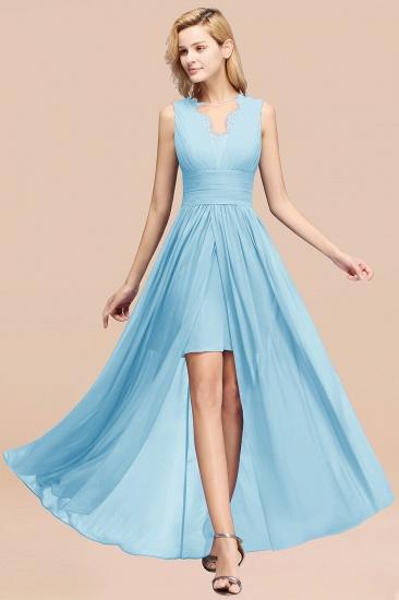 BMbridal Elegant Chiffon Lace Jewel Sleeveless Bridesmaid Dress with Ruffle_23