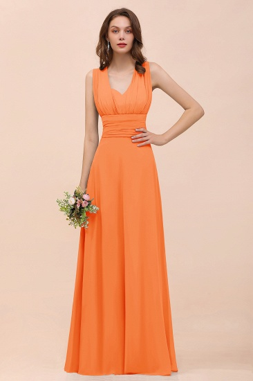 New Arrival Dusty Blue Ruched Long Convertible Bridesmaid Dresses_15