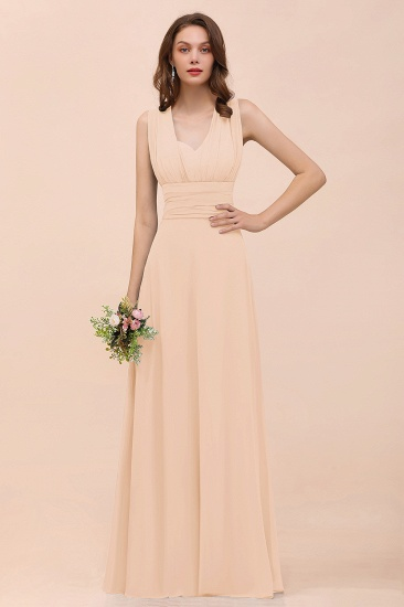 New Arrival Dusty Blue Ruched Long Convertible Bridesmaid Dresses_5