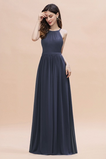 BMbridal Affordable Jewel Sleeveless Stormy Chiffon Bridesmaid Dress with Ruffles Online_4