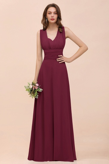 New Arrival Dusty Blue Ruched Long Convertible Bridesmaid Dresses_44