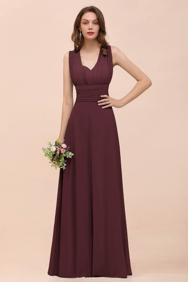 New Arrival Dusty Blue Ruched Long Convertible Bridesmaid Dresses_47