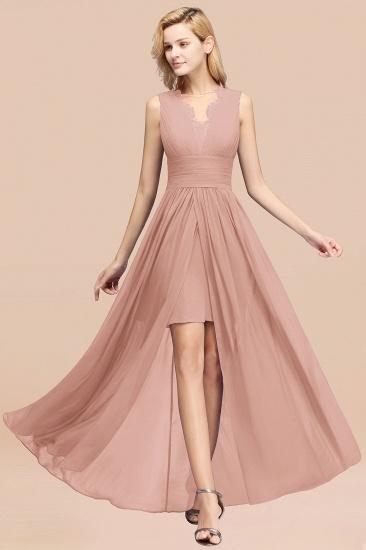 BMbridal Elegant Chiffon Lace Jewel Sleeveless Bridesmaid Dress with Ruffle_6