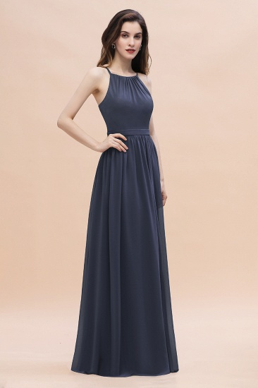 BMbridal Affordable Jewel Sleeveless Stormy Chiffon Bridesmaid Dress with Ruffles Online_6