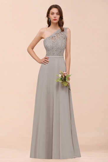 New Arrival Dusty Rose One Shoulder Lace Long Bridesmaid Dress_30