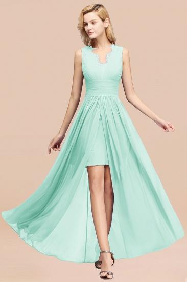 BMbridal Elegant Chiffon Lace Jewel Sleeveless Bridesmaid Dress with Ruffle_36