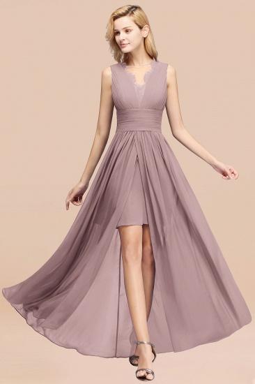 BMbridal Elegant Chiffon Lace Jewel Sleeveless Bridesmaid Dress with Ruffle_37
