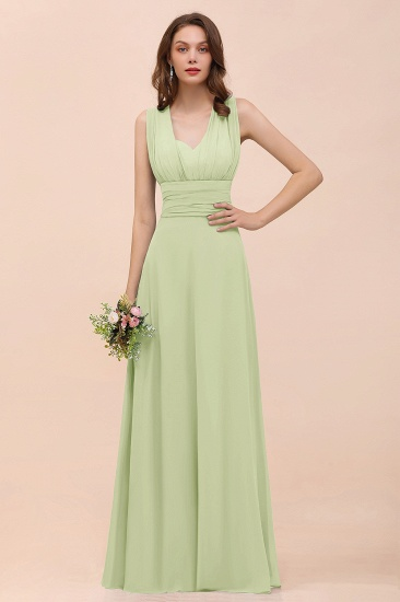 New Arrival Dusty Blue Ruched Long Convertible Bridesmaid Dresses_35