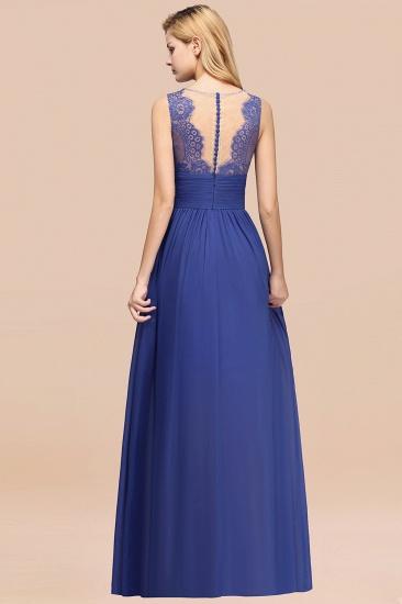 BMbridal Elegant Chiffon Lace Jewel Sleeveless Bridesmaid Dress with Ruffle_52