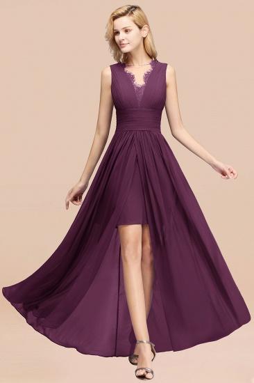 BMbridal Elegant Chiffon Lace Jewel Sleeveless Bridesmaid Dress with Ruffle_20