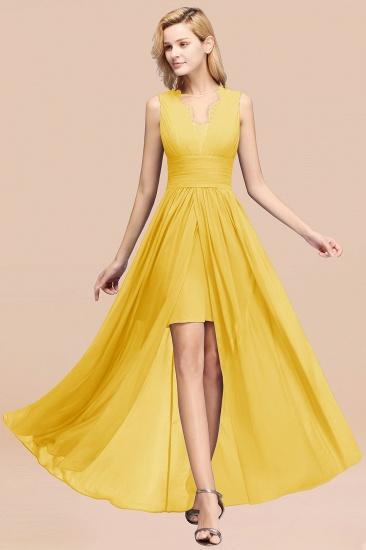 BMbridal Elegant Chiffon Lace Jewel Sleeveless Bridesmaid Dress with Ruffle_17