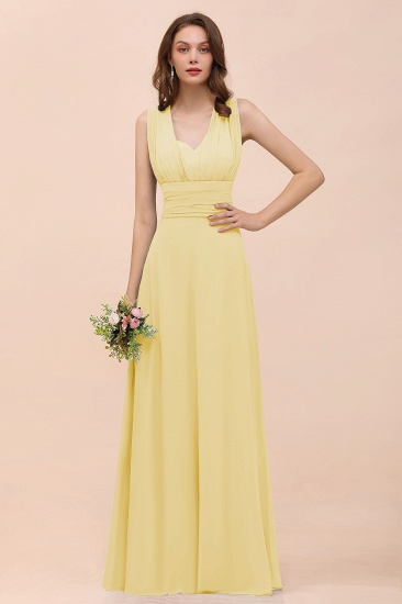 New Arrival Dusty Blue Ruched Long Convertible Bridesmaid Dresses_18