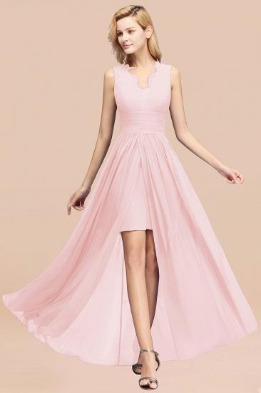 BMbridal Elegant Chiffon Lace Jewel Sleeveless Bridesmaid Dress with Ruffle_3