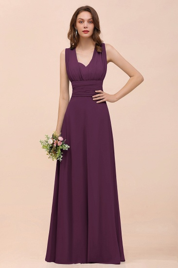 New Arrival Dusty Blue Ruched Long Convertible Bridesmaid Dresses_20