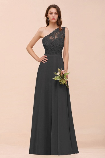 New Arrival Dusty Rose One Shoulder Lace Long Bridesmaid Dress_46