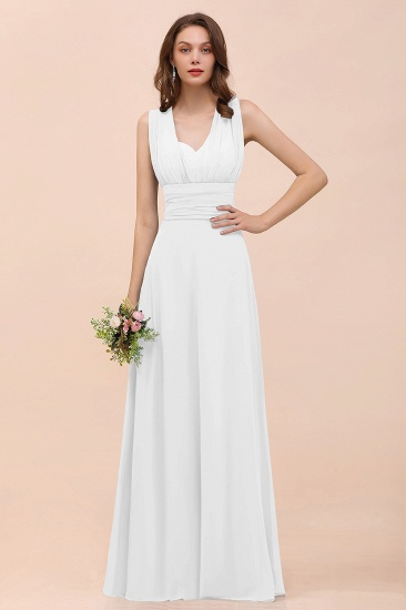 New Arrival Dusty Blue Ruched Long Convertible Bridesmaid Dresses_1