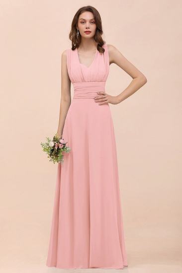 New Arrival Dusty Blue Ruched Long Convertible Bridesmaid Dresses_4