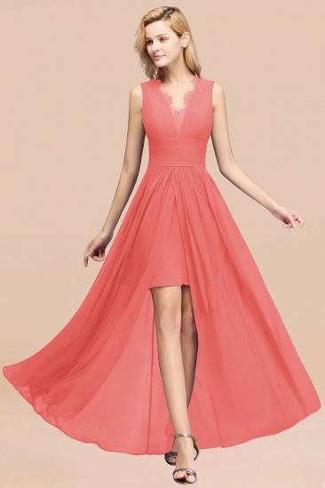 BMbridal Elegant Chiffon Lace Jewel Sleeveless Bridesmaid Dress with Ruffle_7
