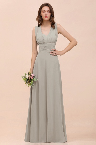 New Arrival Dusty Blue Ruched Long Convertible Bridesmaid Dresses_30