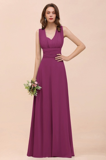 New Arrival Dusty Blue Ruched Long Convertible Bridesmaid Dresses_42