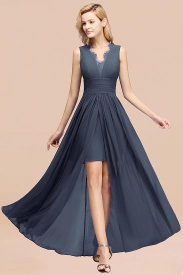 BMbridal Elegant Chiffon Lace Jewel Sleeveless Bridesmaid Dress with Ruffle_39