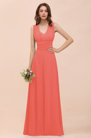 New Arrival Dusty Blue Ruched Long Convertible Bridesmaid Dresses_7