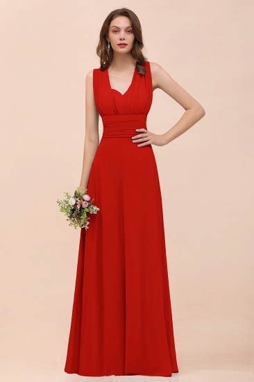 New Arrival Dusty Blue Ruched Long Convertible Bridesmaid Dresses_8