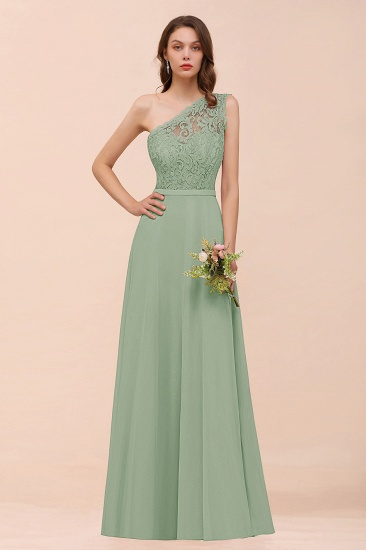 New Arrival Dusty Rose One Shoulder Lace Long Bridesmaid Dress_41