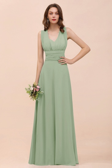 New Arrival Dusty Blue Ruched Long Convertible Bridesmaid Dresses_41