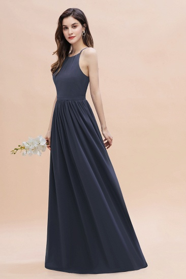 BMbridal Affordable Jewel Sleeveless Stormy Chiffon Bridesmaid Dress with Ruffles Online_7