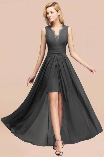 BMbridal Elegant Chiffon Lace Jewel Sleeveless Bridesmaid Dress with Ruffle_46
