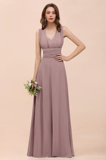 New Arrival Dusty Blue Ruched Long Convertible Bridesmaid Dresses_37