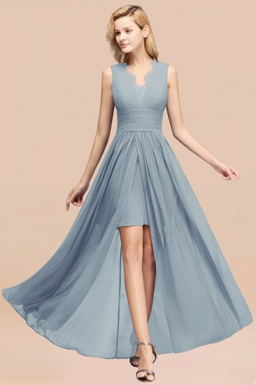 BMbridal Elegant Chiffon Lace Jewel Sleeveless Bridesmaid Dress with Ruffle_40
