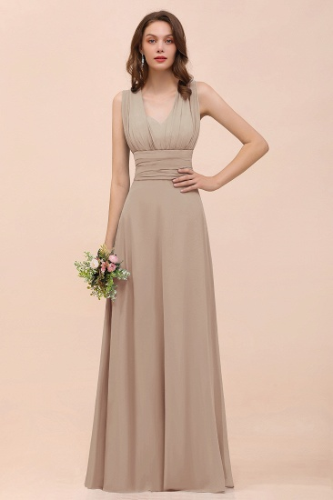 New Arrival Dusty Blue Ruched Long Convertible Bridesmaid Dresses_16
