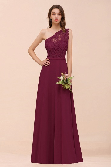 BMbridal New Arrival Dusty Rose One Shoulder Lace Long Bridesmaid Dress_44