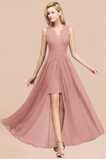 BMbridal Elegant Chiffon Lace Jewel Sleeveless Bridesmaid Dress with Ruffle_50
