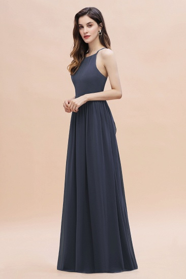 BMbridal Affordable Jewel Sleeveless Stormy Chiffon Bridesmaid Dress with Ruffles Online_5